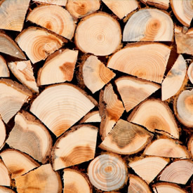 Pile of firewood for sale